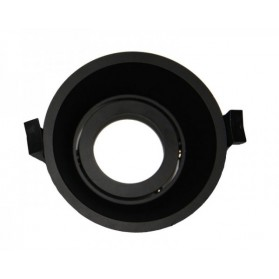 LED Downlight Ring Deep 90mm Black