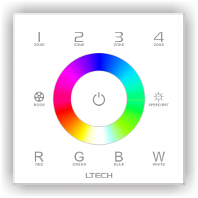 LED Controller Touch RGB DMX/RF 4 zones - DX8