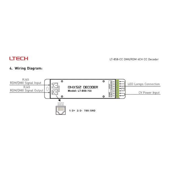 Led controller dmx 4x700ma lt 858 700 cheapraybanclubmaster Choice Image