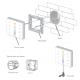 LED Touch Panel RGBW DMX/RF 4 Zones - EX8S