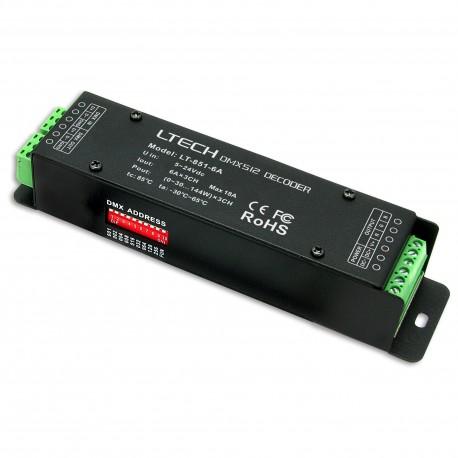 LED Decoder DMX 3x6A - LT-851-6A