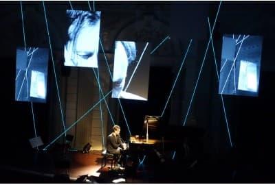 EL-wire decor in theater